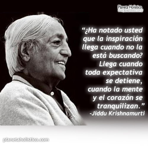 Frase de Krishnamurti