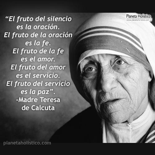 Frase de Madre Teresa de Calcuta
