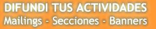 Difundir tus Actividades - Mailings - Banners - Secciones